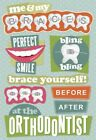 Scrapbooking Crafts KF Stickers Orthodontist Braces Perfect Smile Before After