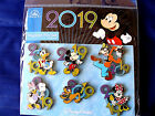Disney  DATED 2019 Mickey  Friends  6 Pin BOOSTER Set