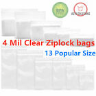 Clear Reclosable 4-mil Heavy Duty Zip Lock Plastic Bags Ziplock Poly Jewelry Bag