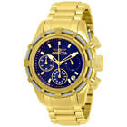 Invicta 30474 Women's Bolt Blue and Gold Tone Dial Chrono Watch