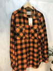 Legendary Whitetails Lumberjack Fleece Flannel LS Shirt Orange Black Sz Tall Lg