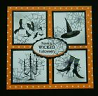 RARE Stampin up stamp HAVE A WICKED HALLOWEEN saying fits circle