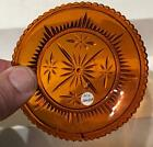 Antique Sandwich Amber Flint Glass Cup Plate Lee Rose 324 Barlow 1385