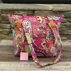 NEW with Tags Vera Bradley Villager Tote Bag Pink Swirls RETIRED Pattern