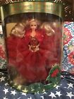 1993 Happy Holidays Barbie Doll Christmas Special Ed Red Gold Gown 10824 New