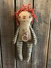 Primitive Little Annie Doll Worn Torn And Grungy Folk art Doll