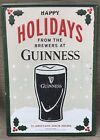 Guinness Irish Stout Happy Holidays Beer Tin Metal Sign Advertising Man Cave