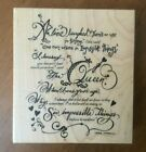 PSX Alice in Wonderland Impossible Poem by Lewis Carroll K 3258 Rubber Stamp