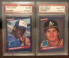 1986 DONRUSS PSA 10 JOSE CANSECO & FRED McGRIFF RATED ROOKIE LOT A's BRAVES