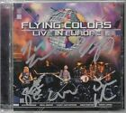 FLYING COLORS Live In Europe 2013 Dutch SIGNED / AUTOGRAPHED 2-CD + CoA