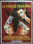 Poster the Trial Paradine Case Alfred Hitchcock Law Justice 47 3 16x63in
