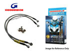 Goodridge For BMW K100Lt Non Abs 87-88 Rear Braided Brake Line Hose Stainless St