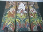 WPA 1930s NATIVE AMERICANS PAINTING POST OFFICE TRIPTYCH MURAL ESTATE