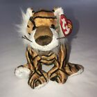 Ty Beanie Babies Stripey the tiger, 2005, PE Pellets, Mint w/ Tag