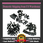 FD Universal Black Fairing Bolt Kit Screws Fit for SUZUKI GSXR 600 750 1000 1300