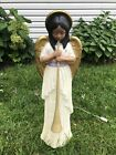 African American TPI Christmas Nativity Angel Blow Mold With Trumpet 1