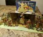 Vintage 1960 Whitman Christmas Manger Cardboard Nativity Set Scene 3D Pieces