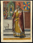 Antique Print CHARLES I THE GOOD COUNT OF FLANDERS DOG Richer 1615