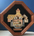 David Winter Cottage PERSHORE MILL PLAQUE SHADOW BOX 1990- Limited edition
