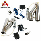 25Electric Exhaust Downpipe E Cut Out Valve W One CONTROLLER REMOTE KIT 2PCS