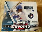 2019 TOPPS CHROME BASEBALL JUMBO HOBBY BOX (12 PACKS)
