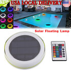 Solar Swimming Pool Lights Underwater Floating Fountain Show LED Multi Color