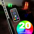 GTP 4 Feet RGB LED Whip Light Antenna w Flag For Jeep Wrangler JK JKU YJ TJ JL