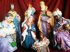 Christmas Nativity Set Large Complete Nativity Scene Three Kings Gifts Tabletop