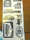 RECOLLECTIONS HALLOWEEN Clear Unmounted Rubber Stamps Skulls TITLES