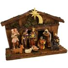 Nativity Set Indoor Christmas Holiday Scene Decor Christian Gift 11 Piece NEW