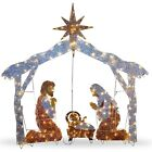 Nativity Set Indoor Ourdoor Christmas Holiday Scene Decor Christian 250 Lights