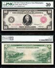Awesome RARE Choice VF++ 1914 10 Philadelphia RED SEAL FRN Note PMG 30 2840