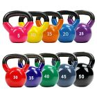 XPRT Fitness Vinyl Color Coated Kettlebell Ergo Handle Strength Training 5-50lbs