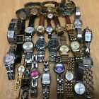 Watch Lot~30 Name Brand Lady Watches~Seiko~Fossil~Elgin~Citizen~Pulsar~EB~Untest