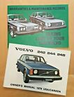 1976 VOLVO 242 / 244 / 245 OWNER'S MANUAL USA/CANADA & Maintenance Record Book