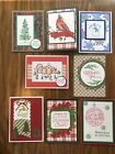 Lot of 8 handmade Christmas Holiday greeting cards Stampin Up and more