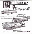 1962 FORD F-100 PICKUP instruction sheet only from AMT vintage model car kit.