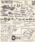 1966 PONTIAC BONNEVILLE instruction sheet only from MPC model car kit.