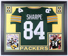 Sterling Sharpe Signed Green Bay Packers 35x43 Custom Framed Jersey Beckett COA