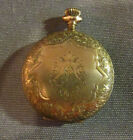 Antique Elgin Pocket Watch Initials Engraved On Front Hunter