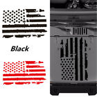 20 x 35 US American Flag Style Vinyl Car Decal Sticker For Jeep Hood Window