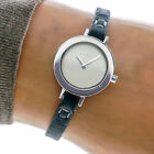 DKNY Womans Watch NY3127 White Dial Slim Spagetti Leather Band 30m Working