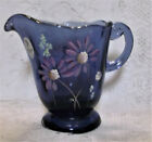 Fenton Art Glass Hyacinth Decorated Pitcher Handpainted T Neader NIB