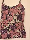 Loft Pink Purple And White Floral Cami Size Large