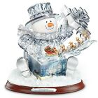 Thomas Kinkade The Gift Of The Holidays Crystal Snowman Sculpture With Lights
