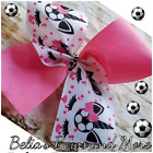 Pretty in Pink Unicorns Soccer Cheer style Hair Bow