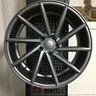 20 SWIRL STYLE SATIN GUNMETAL WHEELS RIMS MAZDA 3 6 MAZDASPEED3 MAZDASPEED6 RX8