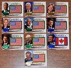 God Bless America Flag Patch Decision 2016 Political Trading Card Inserts U Pick