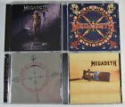 MEGADETH Lot of 4 CDs - Capitol Punishment - Risk - Cryptic Warnings - Countdown