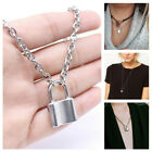 Fashion Lock Pendant Padlock Charm Gold Necklace Chain for Women Jewelry